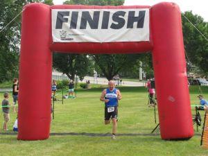 Jim's First Triathlon Finish